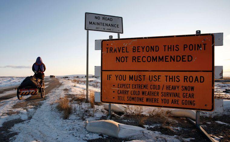 In Sibirien und in Alaska lief Rosie durch eisige Kälte – auf bis zu minus 60 Grad fielen die Temperaturen.