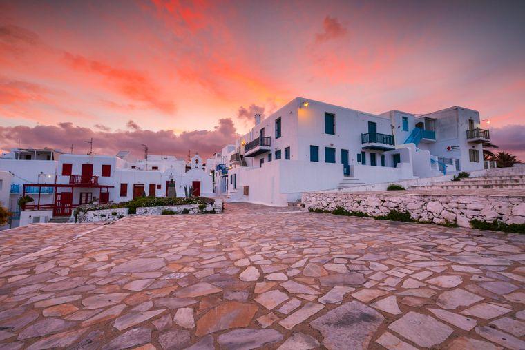 Von der traditionellen griechischen Architektur gibt es auf Mykonos einige zu bestaunen.