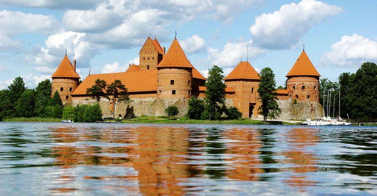 Die Wasserburg Trakai ist eine der wichtigsten Sehenswürdigkeiten des Landes.