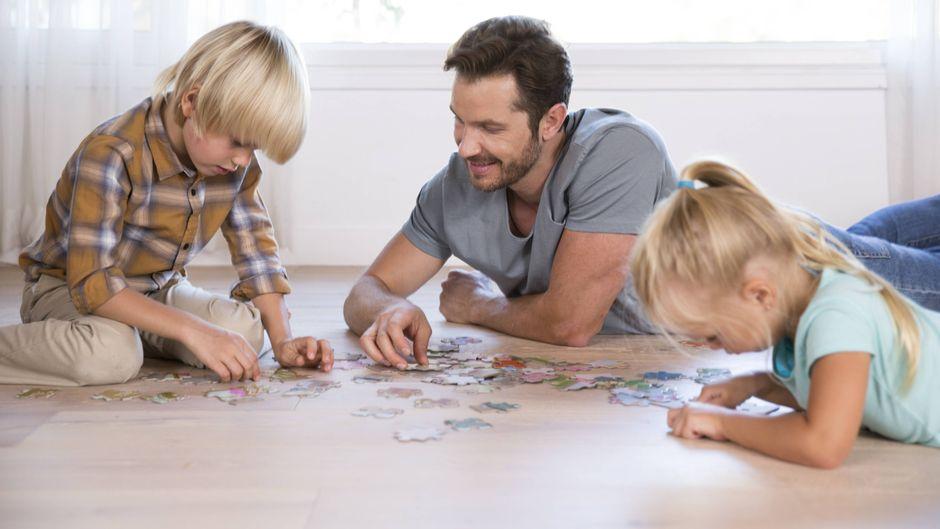 Puzzle allein oder mit der Familie.