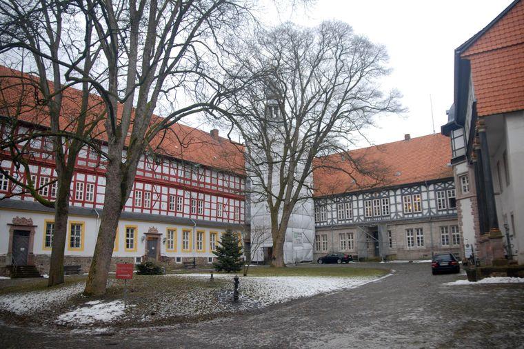 Der Innenhof von Schloss Herzberg