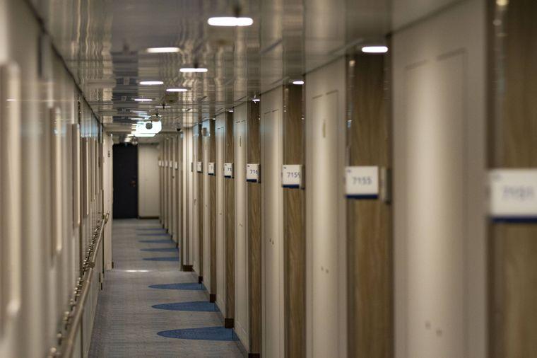 """Passagierkabinen des Kreuzfahrtschiffs """"Mein Schiff 2"""" bei der TUI Cruises."""