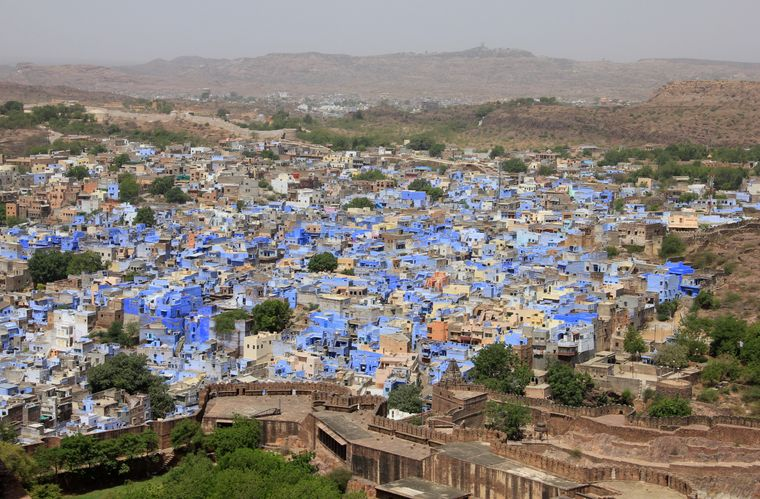 """Jodphur ist bekannt als die """"Blaue Stadt"""" Indiens."""