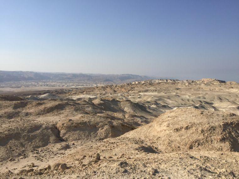 In der judäischen Wüste: Etwa hier sollen einst die beiden Städte Sodom und Gomorra gewesen sein.