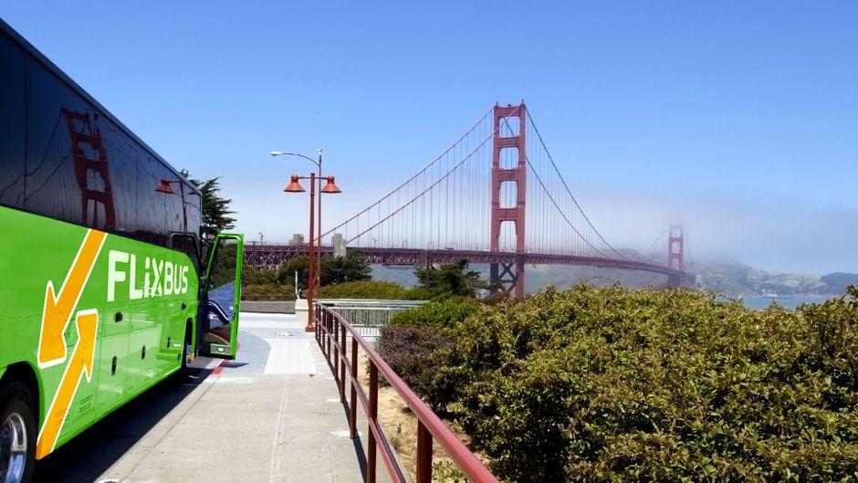 In San Francisco sind die grünen Flixbusse bereits seit Ende Mai unterwegs.