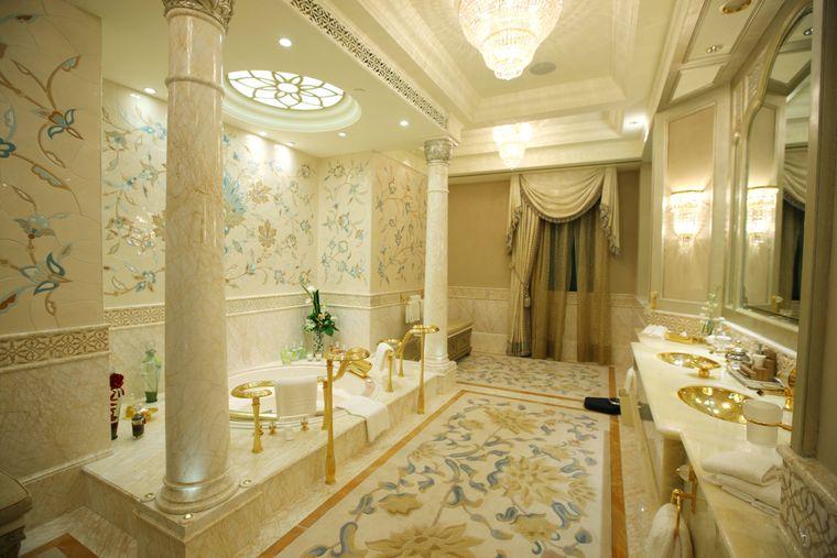 Badezimmer im Emirates Palace.