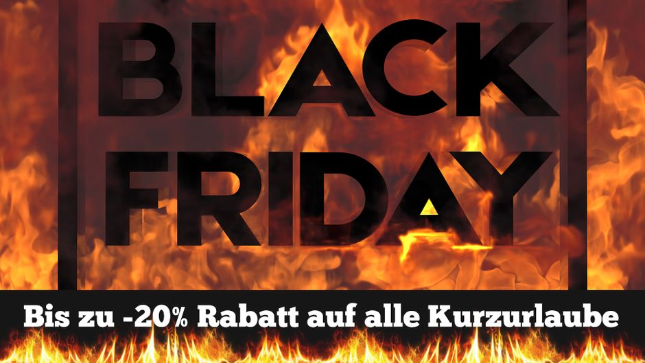Black Friday bei we-are.travel.