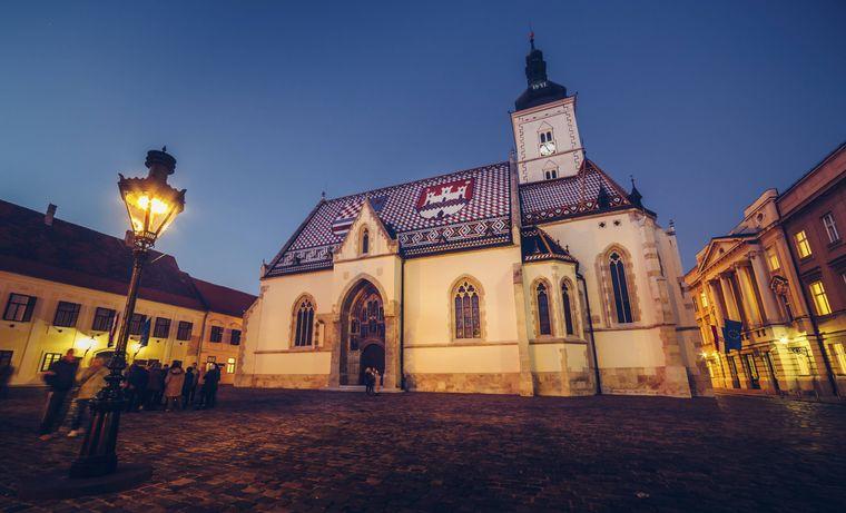 Die Markuskirche in Zagreb.