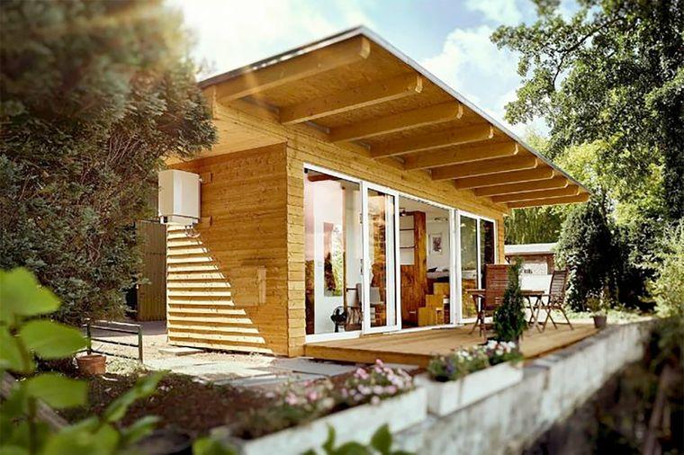 Dieses charmante Tiny House mit Garten und Terrasse findest du in Dresden.