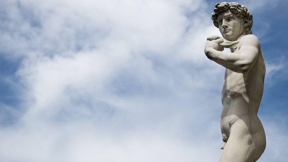 Eine Kopie des David von Michelangelo auf der Piazza della Signoria.