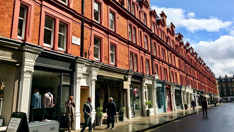 Mit Charme und Schaufenstern: Die Chiltern Street in London.
