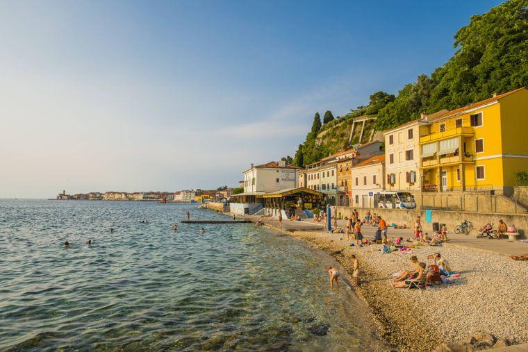 Piran ist ein beliebter slowenische Ferienort an der slowenischen Adriaküste.