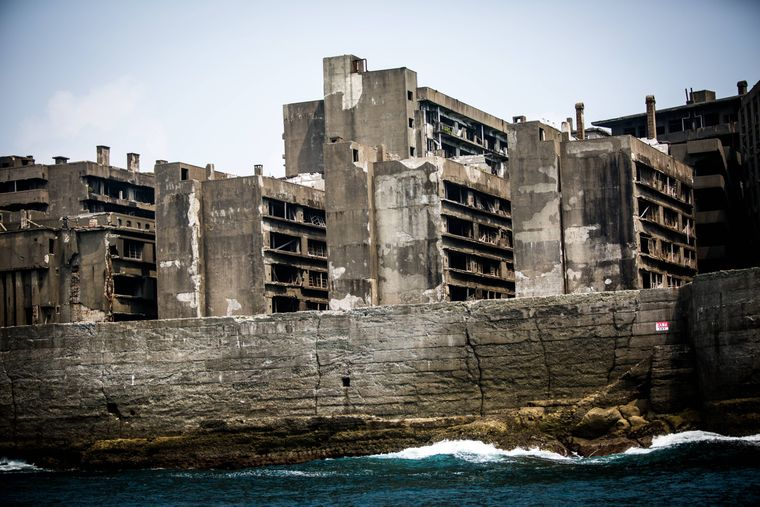 Insel Hashima in Japan.