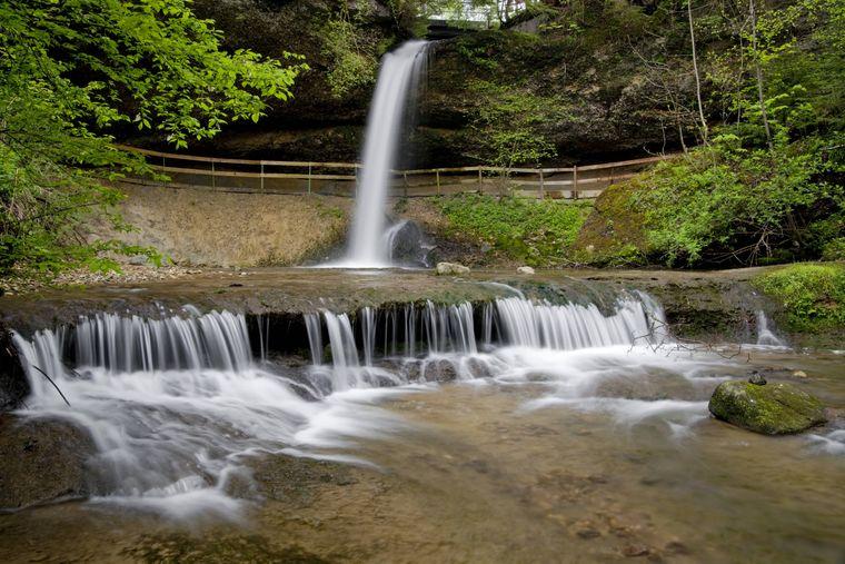 Die Scheidegger Wasserfälle befinden sich in den 2007 neu angelegten Wasserwelten.