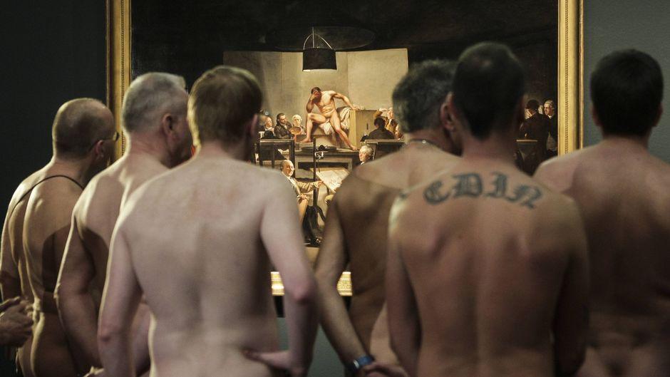 """In Wien gab es im Februar 2013 eine ähnliche Veranstaltung. Besucher durften nackt in die Ausstellung """"Nude Men"""" im Leopald-Museum."""