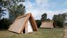 Eine Wikinger-Hütte so, wie sie es früher in Dänemark gegeben hat.