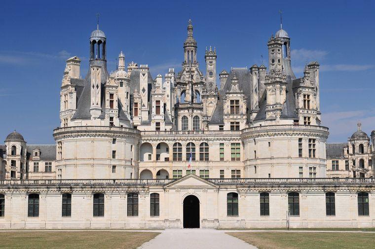 Das Chateau de Chambord ist ein mittelalterliches Schloss in Frankreich.