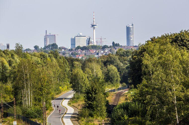 Der erste deutsche Radschnellweg im Ruhrgebiet.