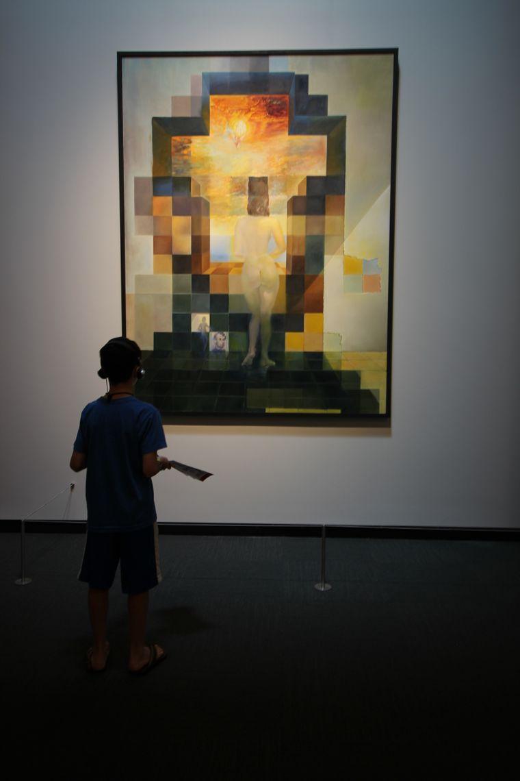 Frauenkörper oder Abraham Lincoln? Je nach Distanz siehst du auf Dalí's Gemälde etwas anderes.
