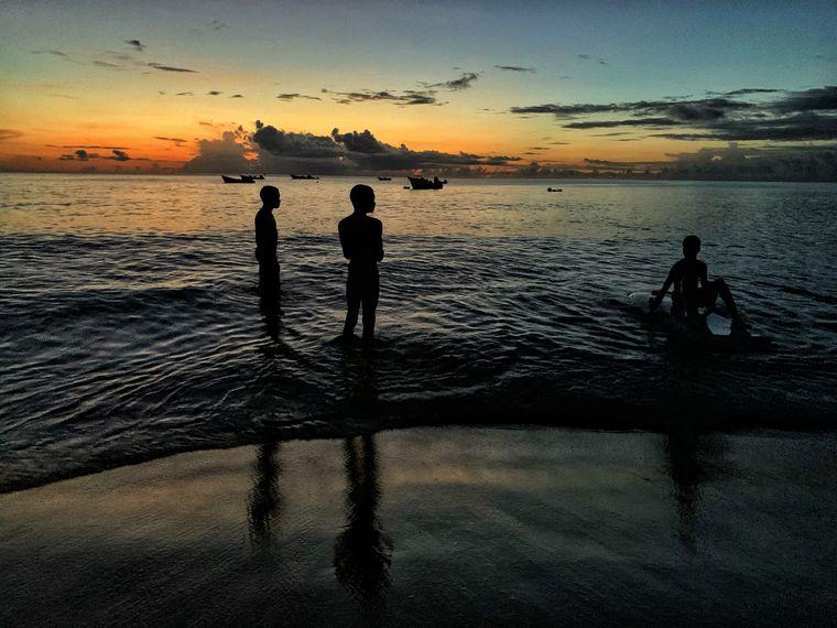 Sonnenuntergang am Mount Irvine Beach.