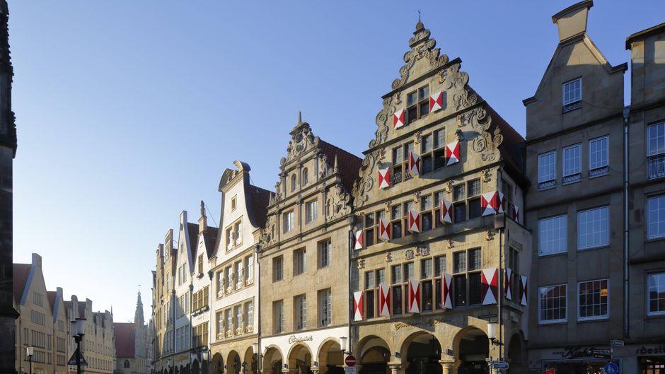 Der Prinzipalmarkt in Münster mit den schönen Giebelhäusern.