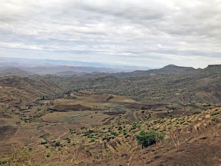 Die äthiopische Landschaft ist größtenteils durch eine vulkanische Hochebene geformt.
