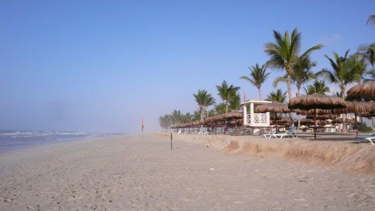 Salalah Beach ist ein kilometerlanger, menschenleerer Traumstrand.