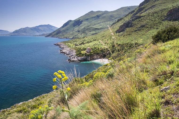 Das Naturreservat Zingaro auf Sizilien.