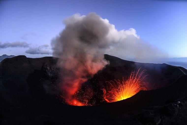 Touristen dürfen den Vulkan nur bei Stufe null bis eins besuchen.
