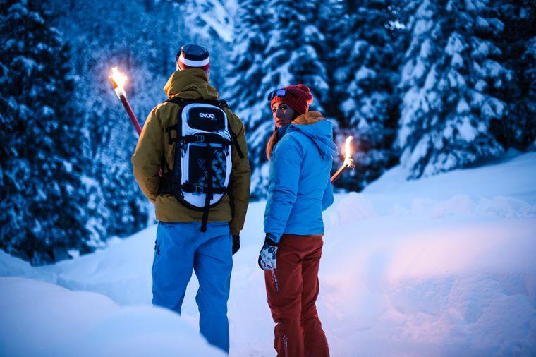 Winterwandern in Klaus Äuele mit Fakeln