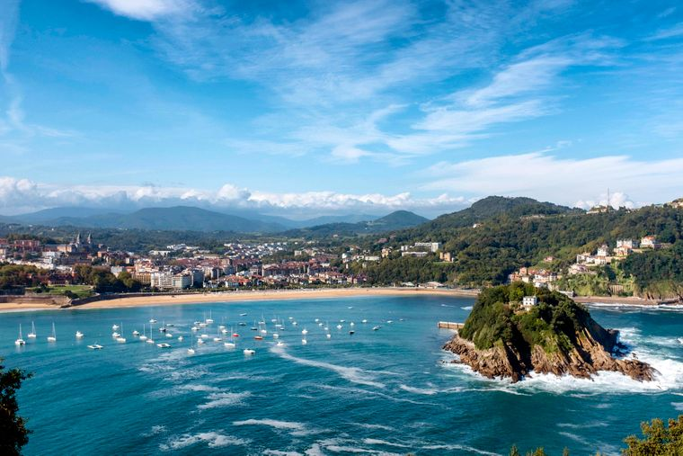 La Concha Bay in San Sebastian – so sieht das spanische Baskenland aus.