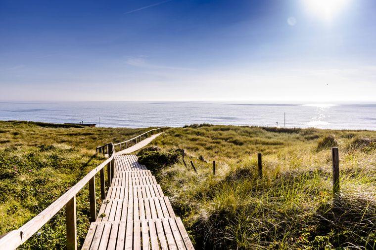 Da kann man durchatmen - in den Dünen am Strand von Sylt