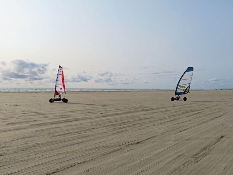 Strandsegler auf Fanø.