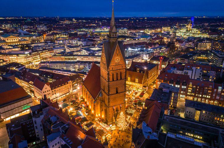 Hannovers Marktkirche von oben