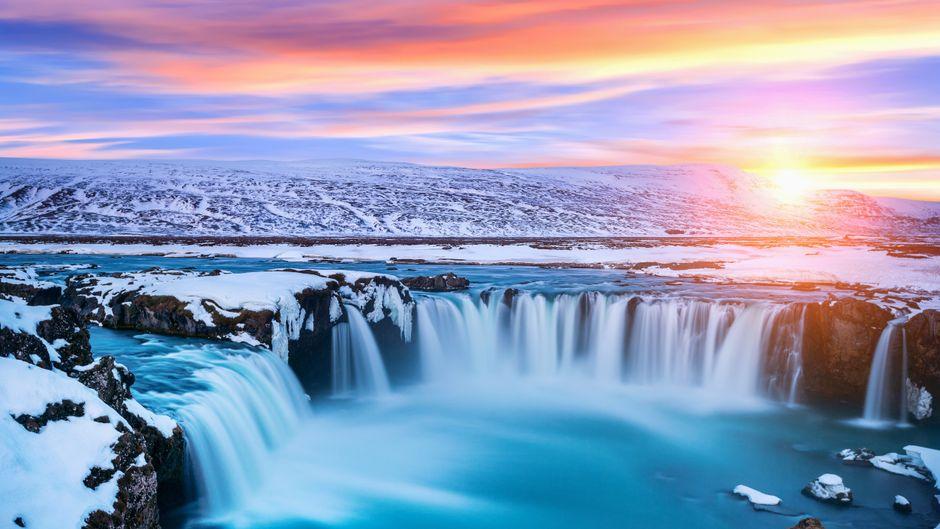 Der Wasserfall der Götter: der Godafoss.