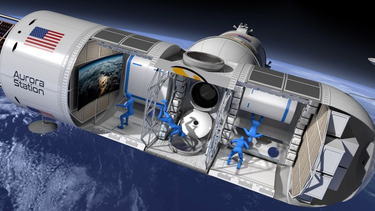 """In der """"Aurora Station"""" werden die Weltraumtouristen die Schwerelosigkeit erleben."""