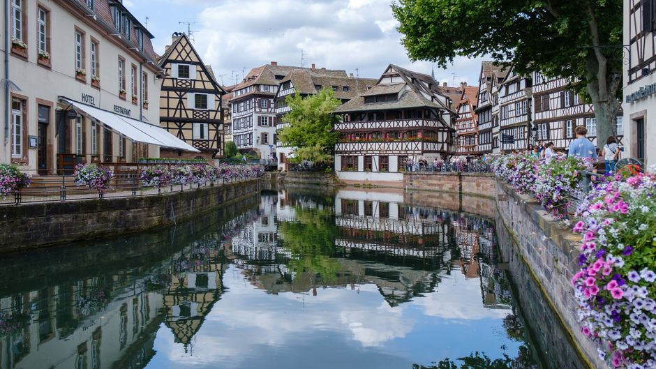 Fachwerkhäuser in Straßburg.