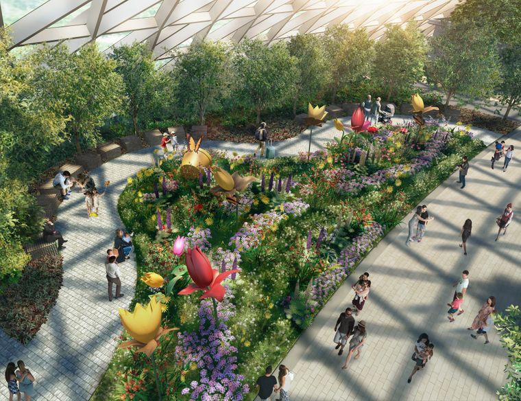 """Im """"Petal Garden"""" im Canopy Park in Singapur sollen saisonale Blumen gepflanzt werden."""