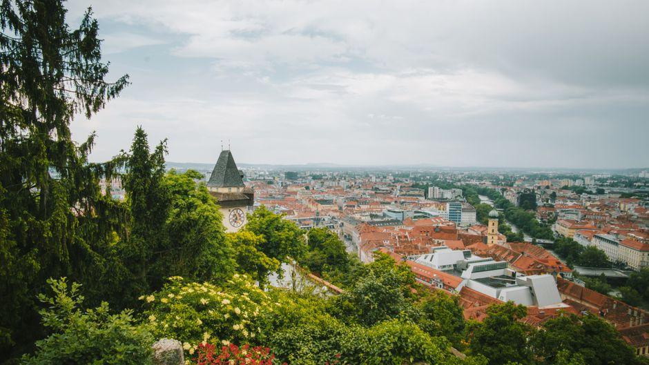 Der Blick auf Graz.