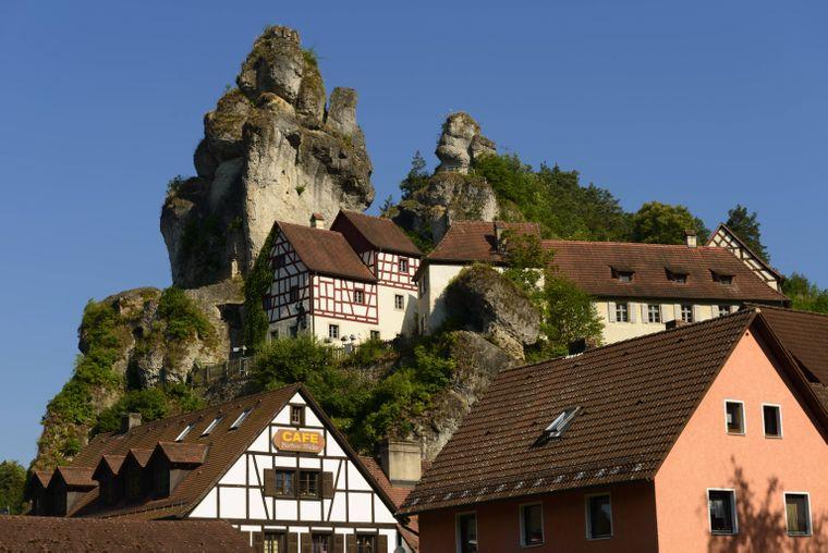 Die Felsburg von Tüchersfeld in der Fränkischen Schweiz