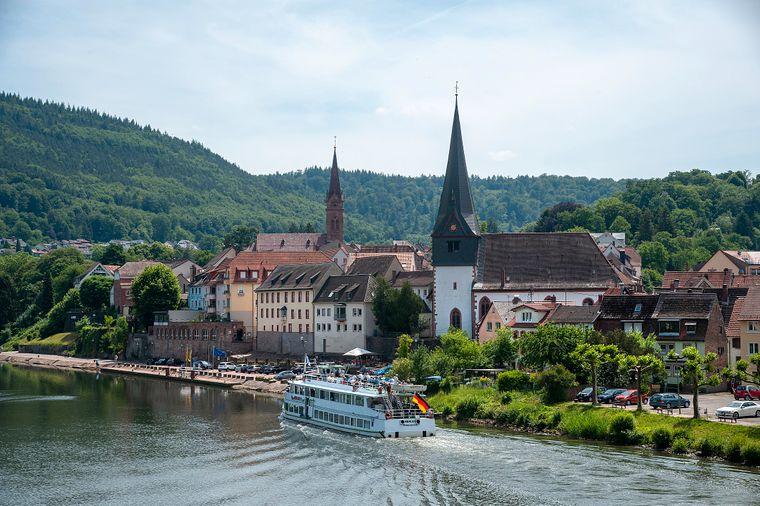 Sicht auf Neckargemünd am Neckar.