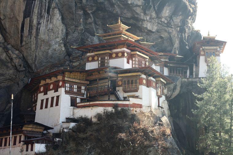 """Der Tempel """"Tigernest"""" ist die heiligste Pilgerstätte des Landes."""