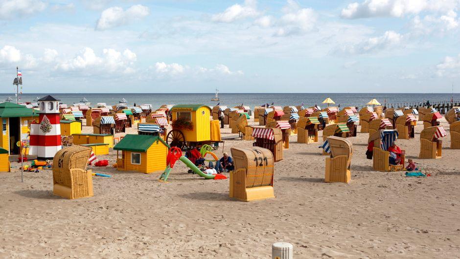 Travemünde ist bekannt für seinen schönen Strand.
