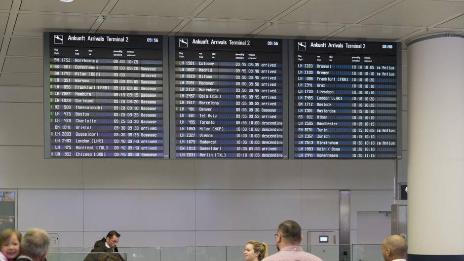 Die Abfertigung am Flughafen München musste kurzzeitig gestoppt werden.