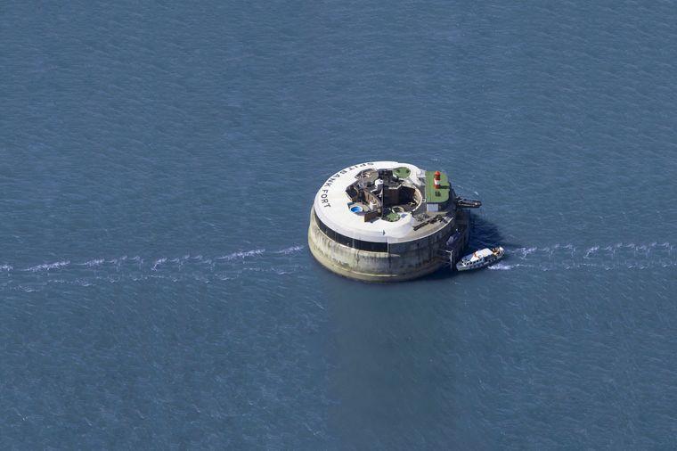 """Das Hotel """"Spitbank Forts"""" liegt in der Meerenge Solent vor Portsmouth"""