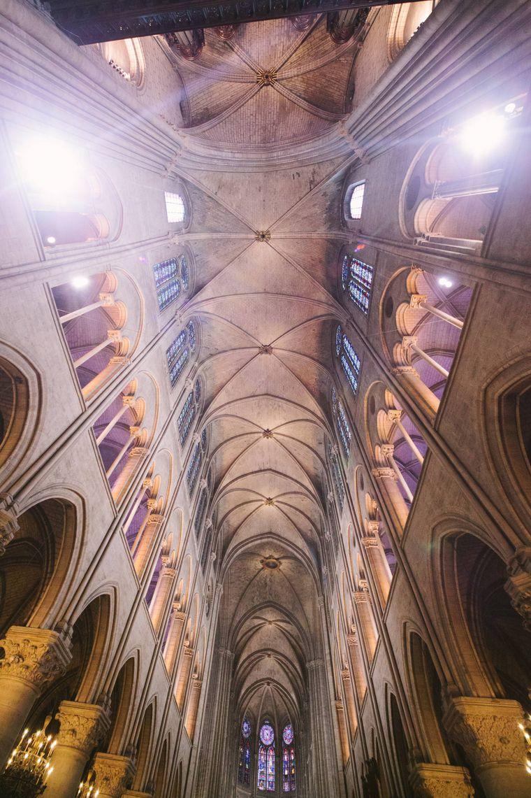 Äußerst aufwendige Architektur im Inneren der Kathedrale.