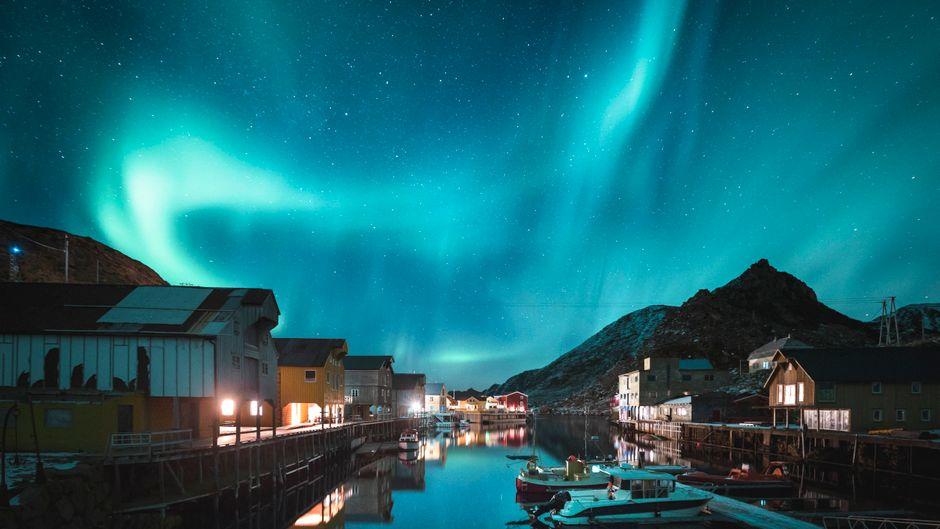 Langoya Island, Nyksund, Norwegen.