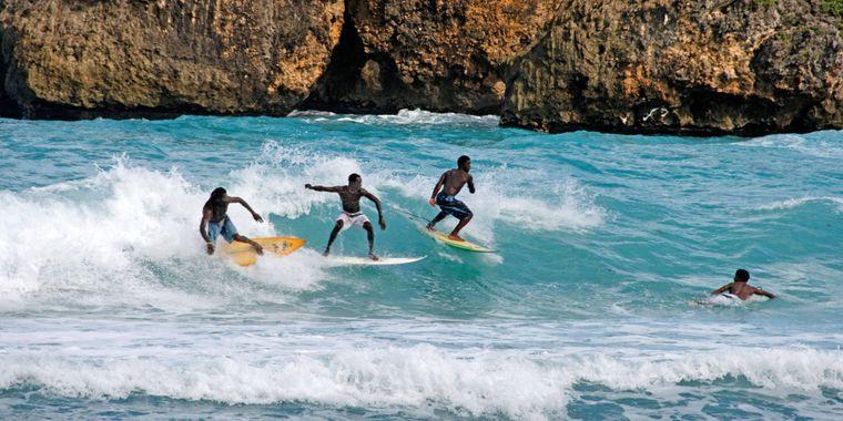 Surfer auf Jamaika.