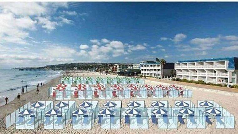 Sonnenbad in Plastik-Boxen: Ist das die Zukunft des Strandurlaubs in Corona-Zeiten?
