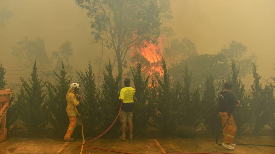 Buschfeuer in Canberra, Australiens Hauptstadt.